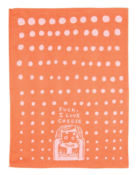 Blue Q: Tea Towel - F**k, I Love Cheese