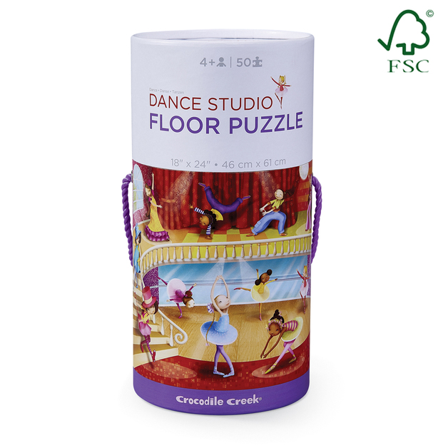 Crocodile Creek Canister Floor Puzzle Dance 50pc