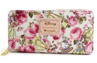 Loungefly: Disney Beauty and the Beast - Floral Zip-Around Wallet