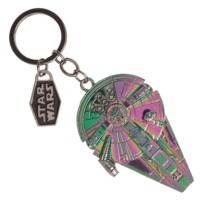 Star Wars Solo Iridescent Key Chain - Millennium Falcon