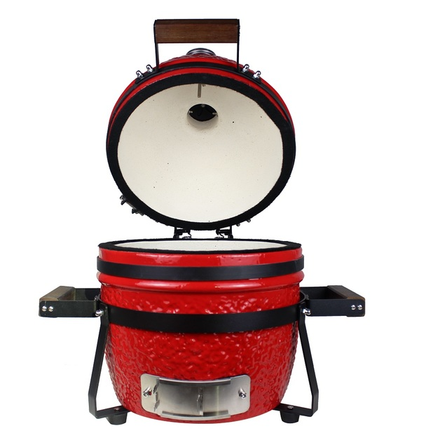 "Gorilla Kamado Ceramic Portable Grill BBQ (Red) | 13"""