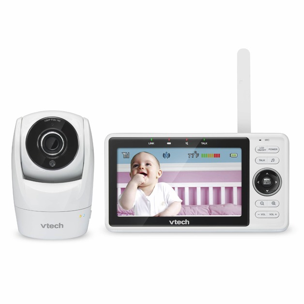 VTech: Safe and Sound Wi-Fi 1080p HD Pan & Tilt Video Baby Monitor With Remote Access