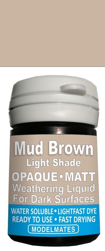 Modelmates: Opaque Weathering Liquid - Light Mud