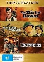 Dirty Dozen / Battle Of The Bulge / Kelly's Heroes - Triple Feature (3 Disc Set) on DVD