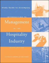 Introduction to Management in the Hospitality Industry: Study Guide by Clayton W Barrows image