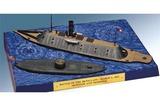 Lindberg U.S. Monitor and Merrimack 1/210 and 1/300 Model Kit