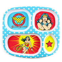 Bumkins: Melamine Divided Plate - Wonder Woman
