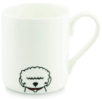 Tiny Grey Mug (Bichon Frise)