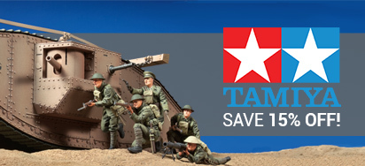 15% off Tamiya kits