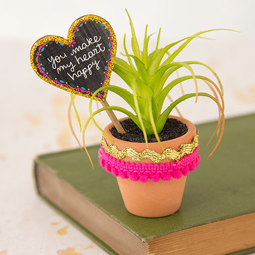 Natural Life: Garden Sign Succulent - Heart Happy