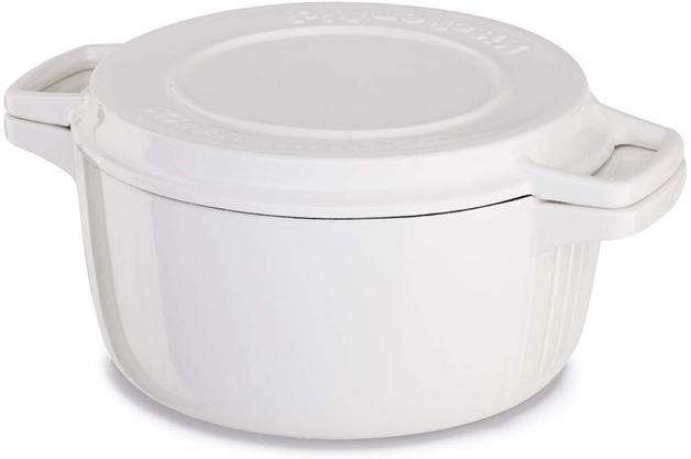 KitchenAid: Cast Iron Casserole Dish - Almond Cream (3.8L)