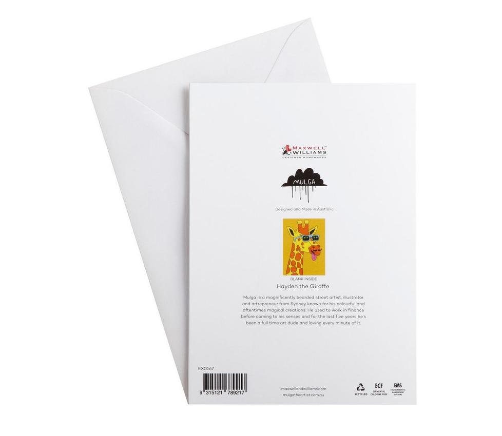 Maxwell & Williams: Mulga the Artist Greeting Card (Giraffe) image