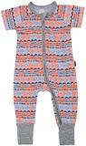Bonds Zip Wondersuit Short Sleeves - Batik Baby (New Born)