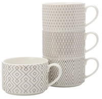 Maxwell & Williams Ichacha Stackable Mugs (Set of 4 x 320ml)