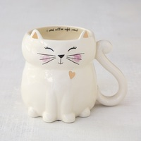 Natural Life: Ceramic Folk Mug - Cat