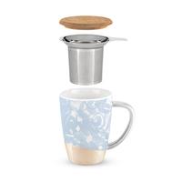 Bailey Dusty Blue Ceramic Tea Mug & Infuser