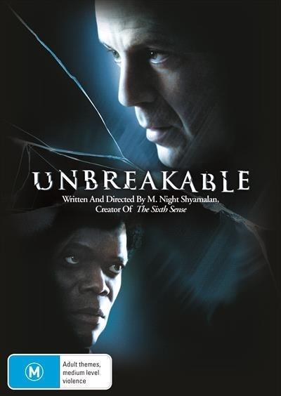 Unbreakable on DVD image