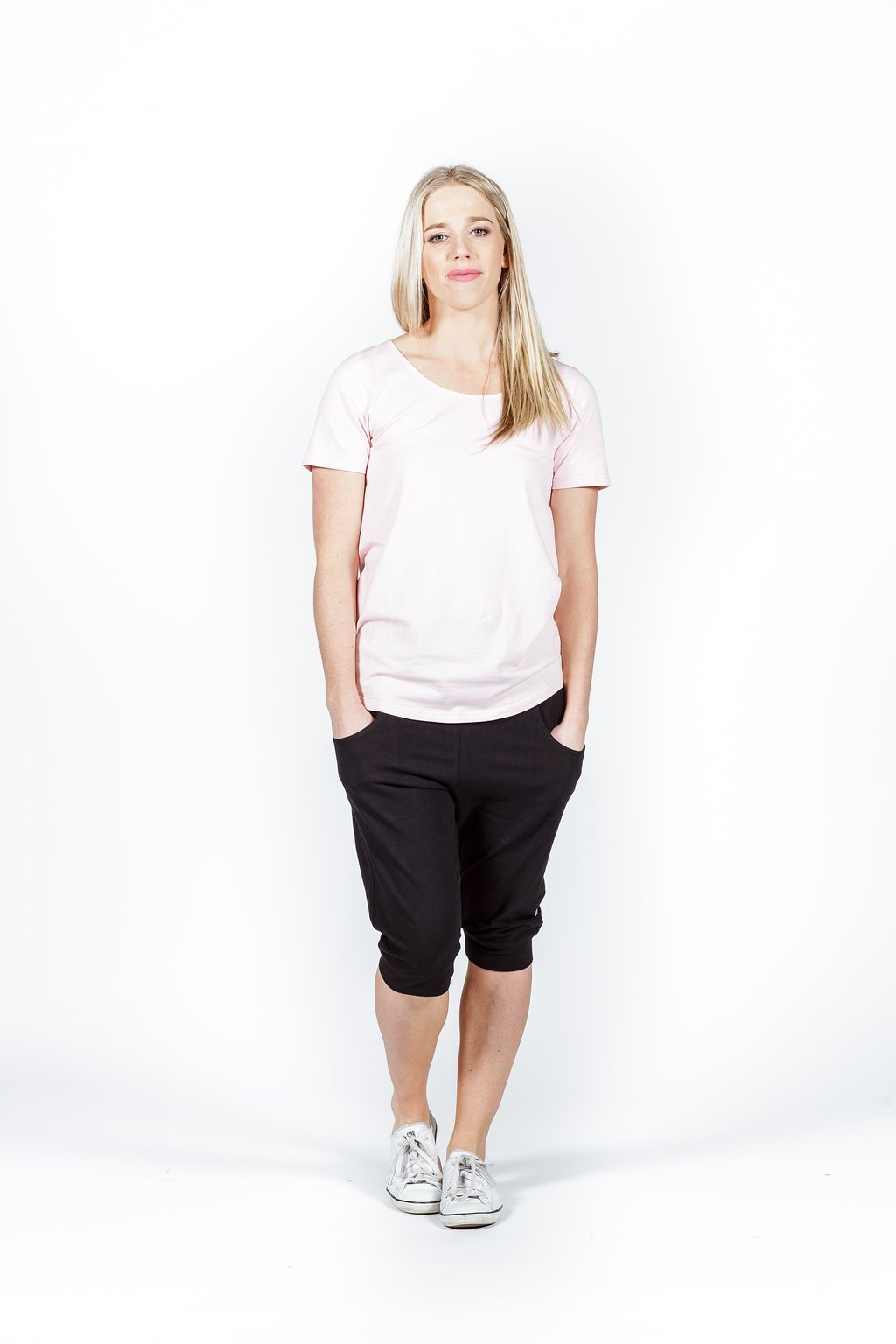 Home-Lee: 3/4 Apartment Pants - Black With White X Print - 10 image