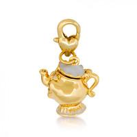Disney Beauty and the Beast Mrs Potts Charm- Yellow Gold