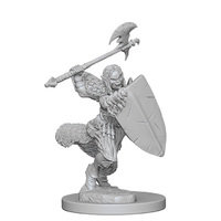 Pathfinder Deep Cuts: Unpainted Miniatures - Half-Orc Female Barbarian