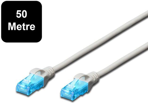 50m Digitus UTP Cat5e Network Cable - Grey