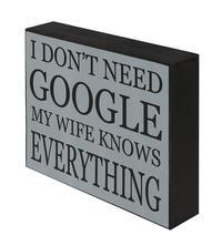 Shelf Plaque - Dont Need Google