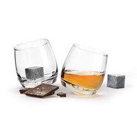 Sagaform: Rocking Whiskey Glasses & Stones - Gift Set