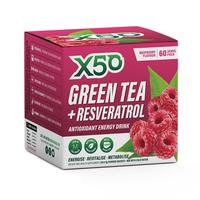Green Tea X50 + Resveratrol - Raspberry (60 serves)