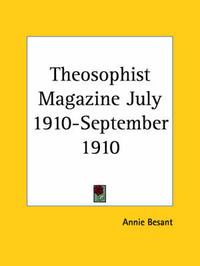 Theosophist Magazine (July 1910-September 1910)