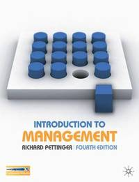 Introduction to Management by Richard Pettinger image