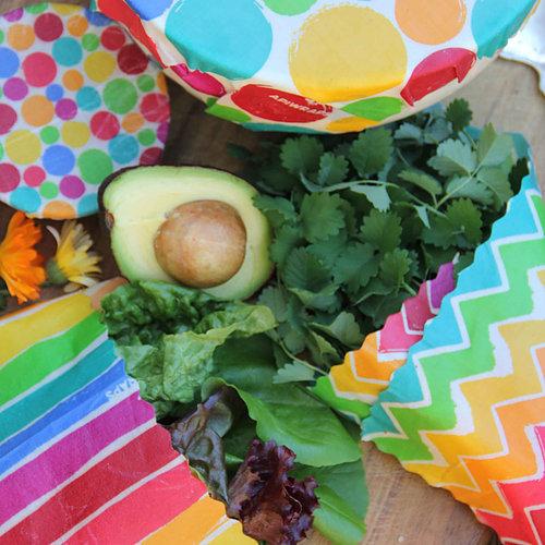 Apiwraps Starter Set - Beeswax Food Wraps (Rainbows) image