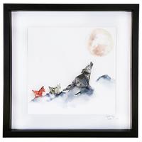 Wolf Pack Large Frame (Black) image