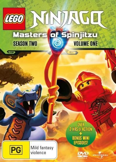Lego Ninjago - Masters Of Spinjitzu - Season 2 Volume 1 on DVD