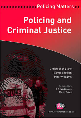 Policing and Criminal Justice by Christopher Blake image