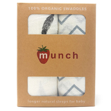 Munch: Organic Cotton Baby Swaddle - 2 pack