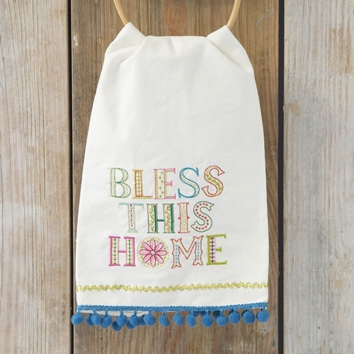 Natural Life: Linen Tea Towel - Bless This Home