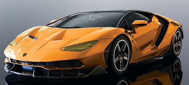 Scalextric: Lambo Centenario (Orange) - Slot Car