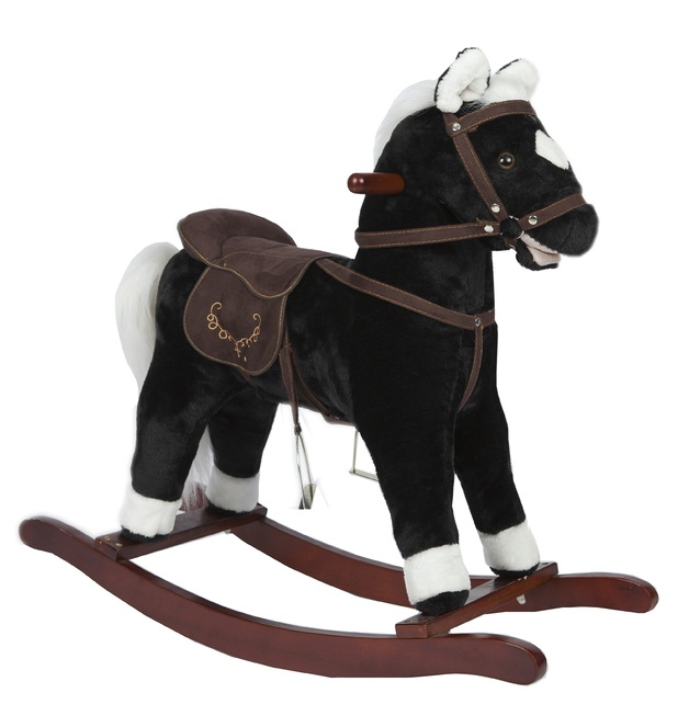 Jolly Ride: Black Rocking Horse - With Sounds