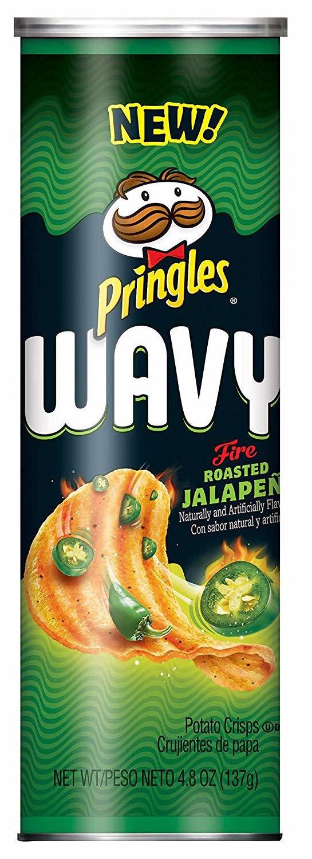 Pringles Wavy FIRE Roasted Jalapeno 137g image