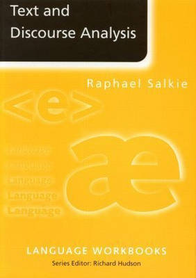 Text and Discourse Analysis by Raphael Salkie