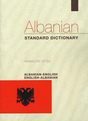 Albanian-English/English-Albanian Standard Dictionary by Ramazan Hysa image