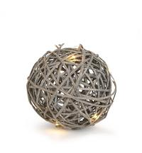 Willow Decorative Ball with LED - Grey (Small)