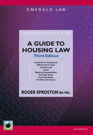 A Guide To Housing Law by Roger Sproston image
