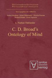 C D Broad's Ontology of Mind by L.Nathan Oaklander image