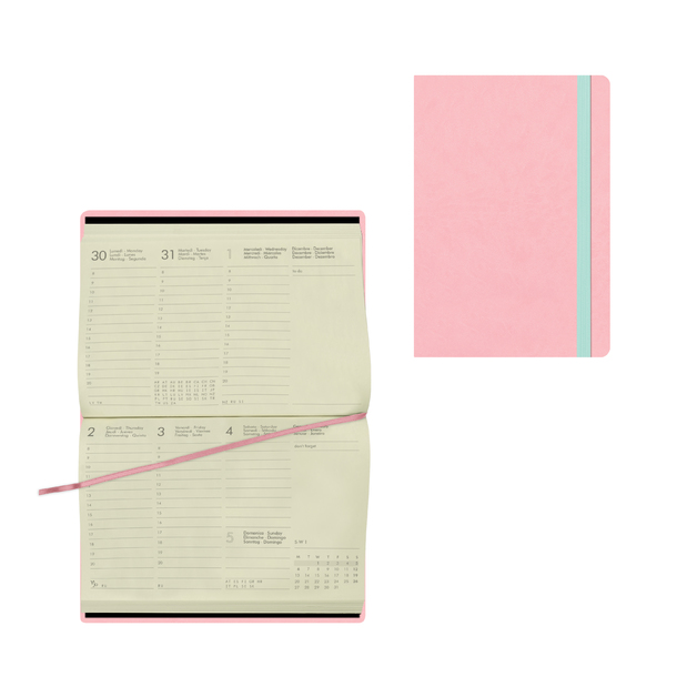 Legami: Small Weekly 12 Month 2021 Diary - Pink (9.5 x 13.5cm)