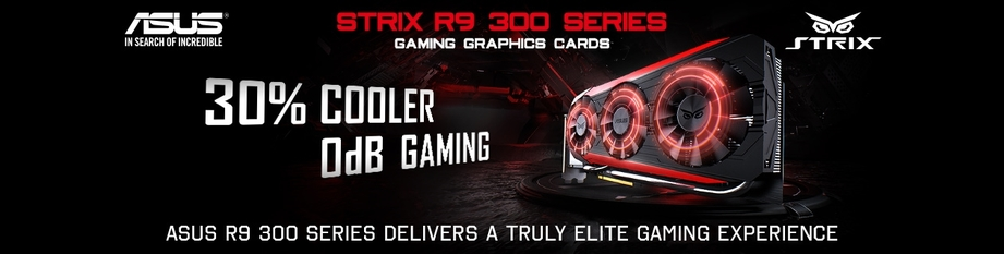 Blazing fast and quiet!  ASUS R9 390 with Direct CU III Cooler!