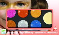 Djeco: 6 Colour Makeup Pallete (Metallic)