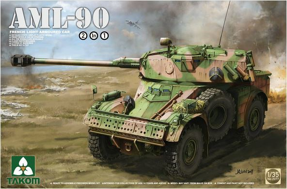 Takom 1/35 French Light Armoured Car AML-90 2 in 1 Model Kit image