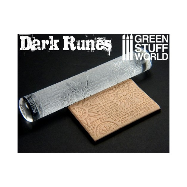Green Stuff World Texture Rolling Pin: Dark Runes
