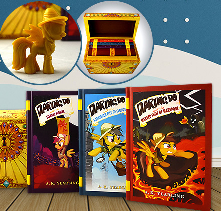 My Little Pony: The Daring Do Adventure Collection Box Set (3 Books & Exclusive Figure) by A K Yearling image
